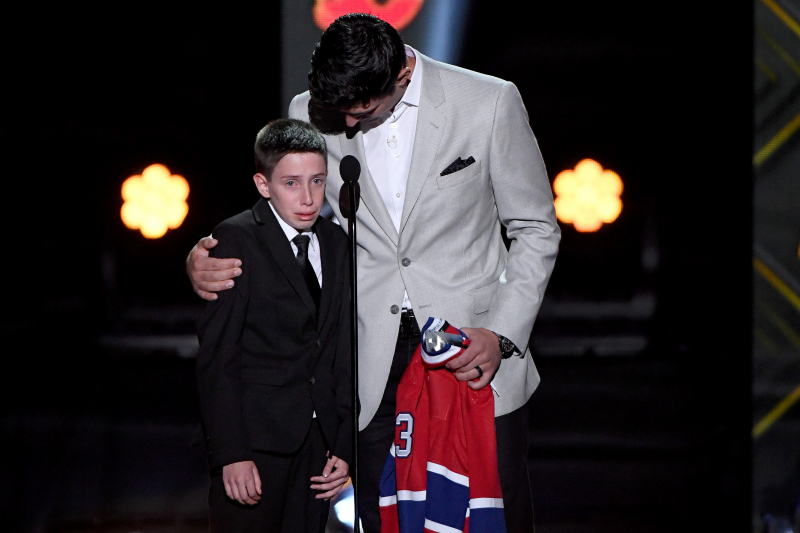 Video: Canadiens' Carey Price Surprises Fan Anderson Whitehead at NHL Awards