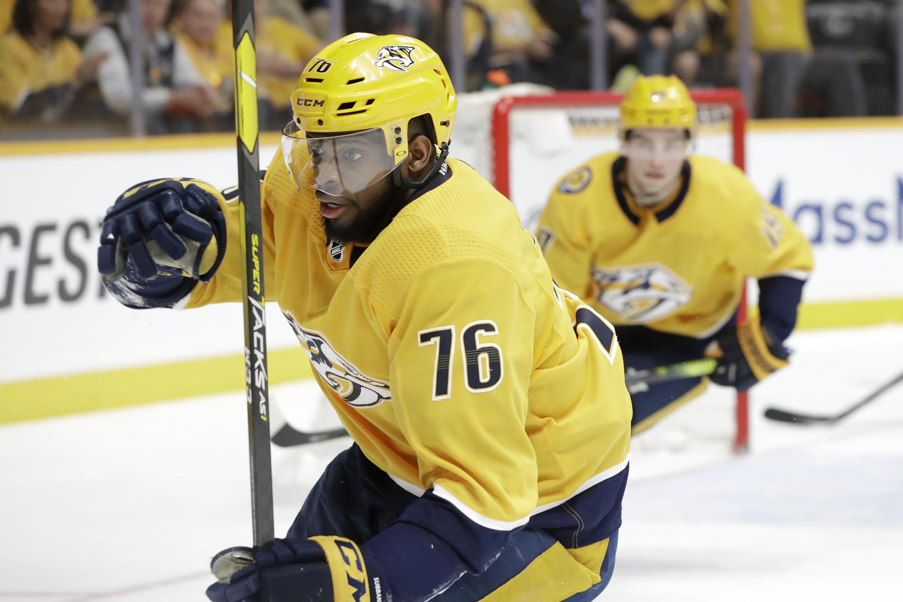 separation shoes b2d32 8a778 PK Subban Traded to Devils from Predators for Steven Santini ...