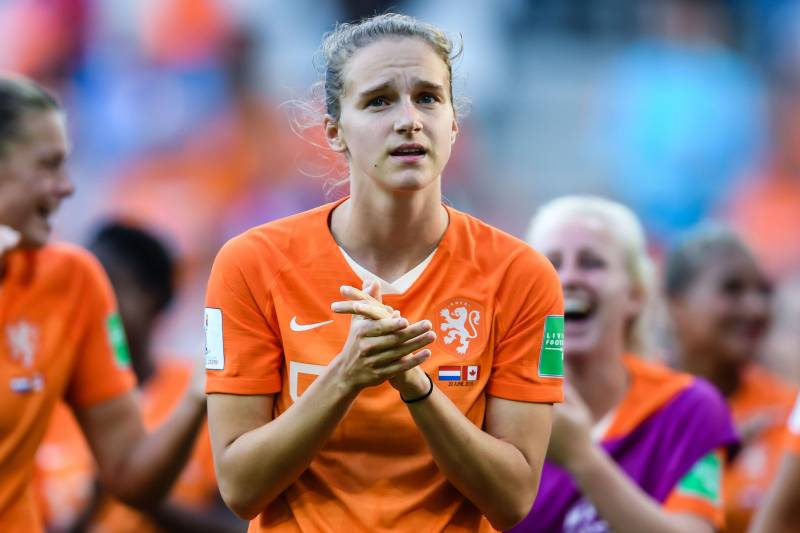 Vivianne Miedema of Netherlands women during the FIFA Women's World Cup France 2019 group E match between The Netherlands and Canada at Stade Auguste-Delaune on June 20, 2019 in Reims, France(Photo by VI Images via Getty Images)