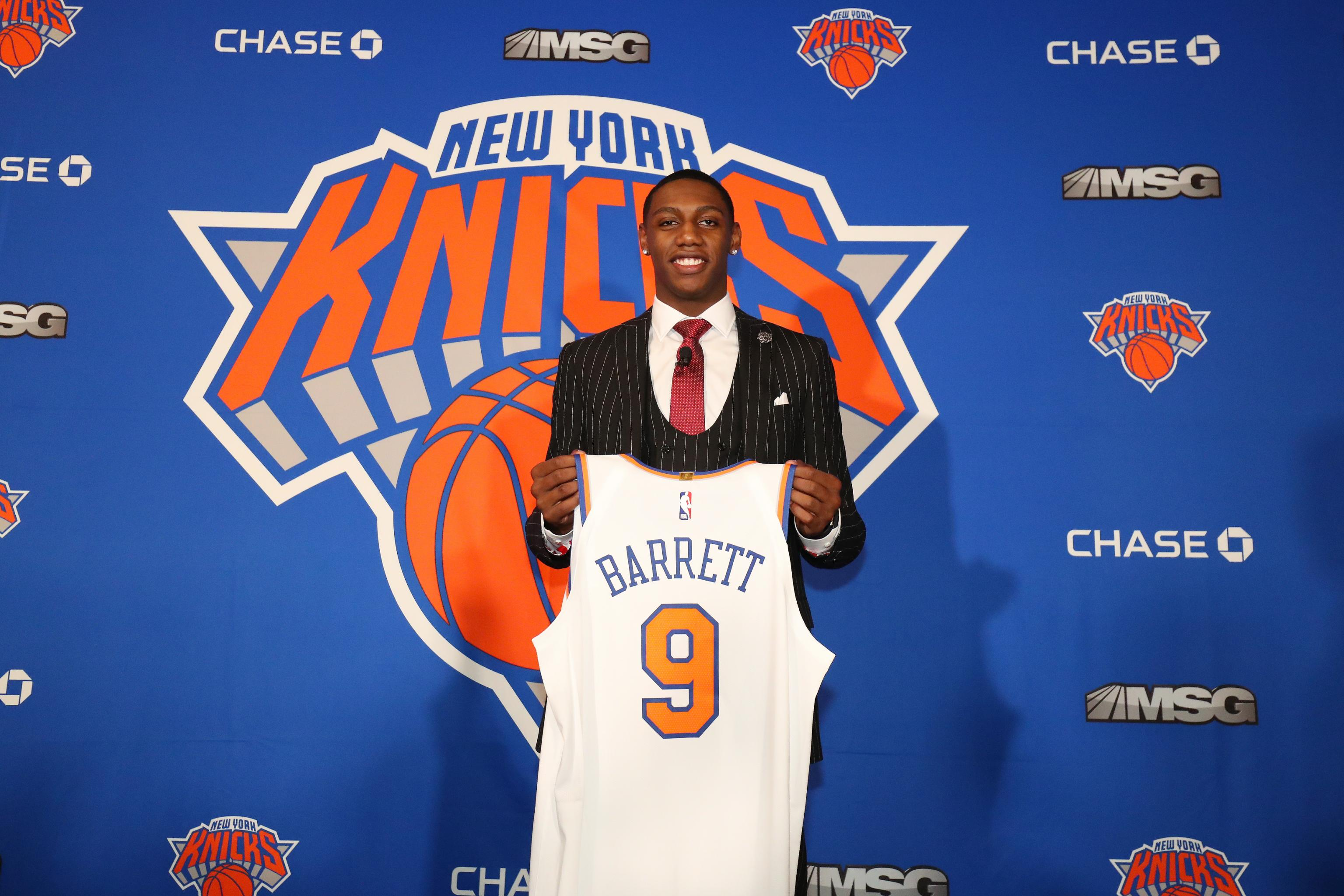 Video Watch Rj Barrett S Special Introduction To Knicks Madison