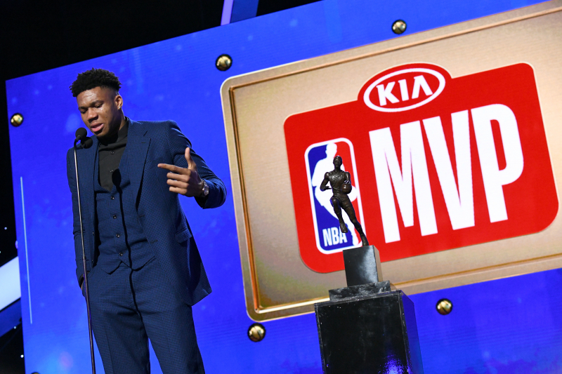 2019 NBA MVP Voting Results: Giannis Beats James Harden by 55 1st-Place Votes