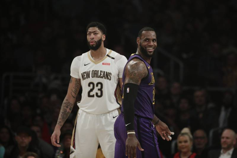 official photos ac39d 9073c Report: LeBron James to Give Anthony Davis No. 23 Jersey ...