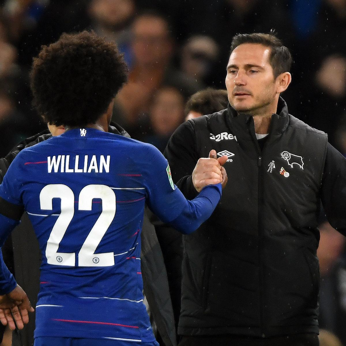Chelsea Fc Latest News: Willian Says Frank Lampard Would Be 'Up To The Task' Of