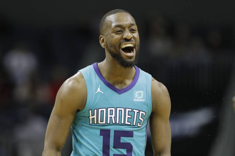 81b4e94e6 Charlotte Hornets guard Kemba Walker (15) reacts after a basket against the  Washington Wizards