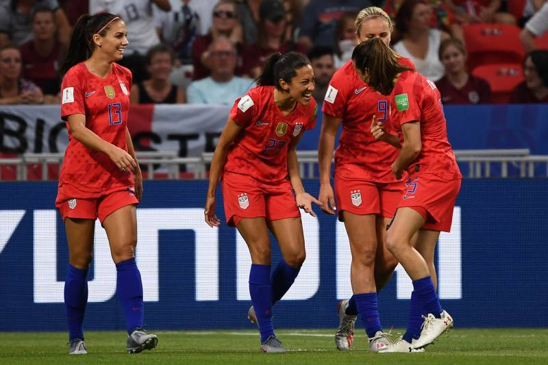 Video: USA Megan Rapinoe Replacement Christen Press Scores