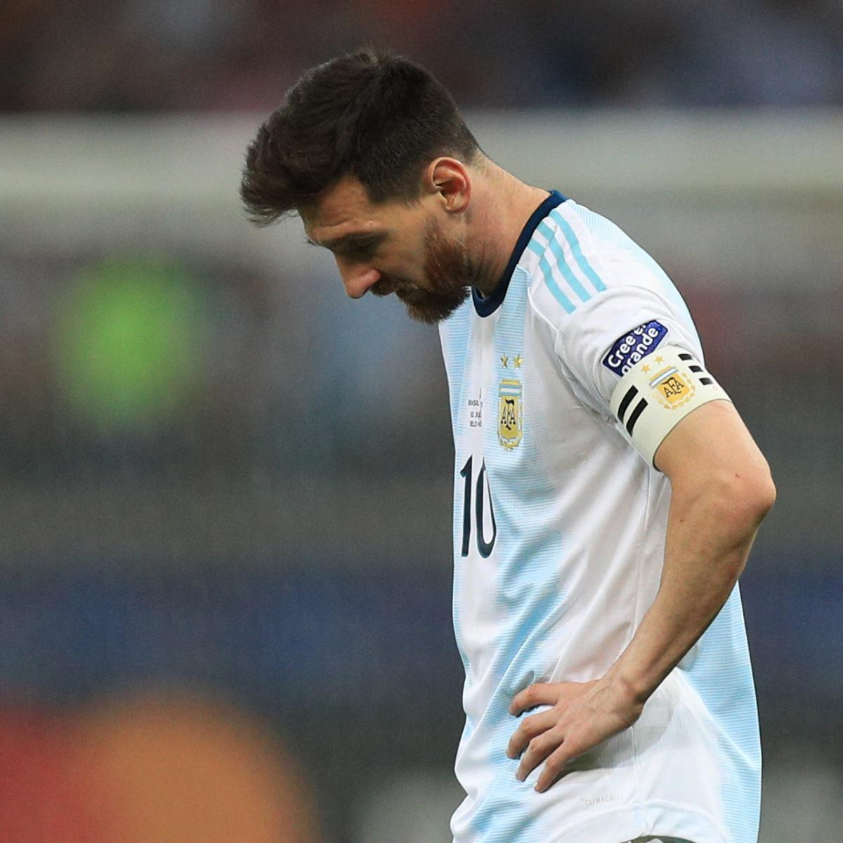 Argentina captain Lionel Messi slammed the refereeing at the Copa America after his side lost 2-0 to Brazil in the semi-finals on Tuesday, but he suggested he'll continue playing for the national team...