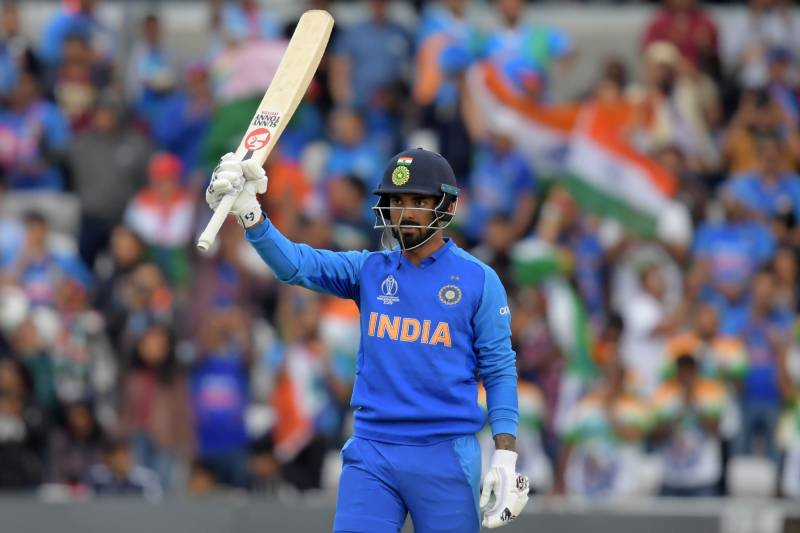 india s k l rahul celebrates reaching his century during the 2019 cricket world cup group stage match