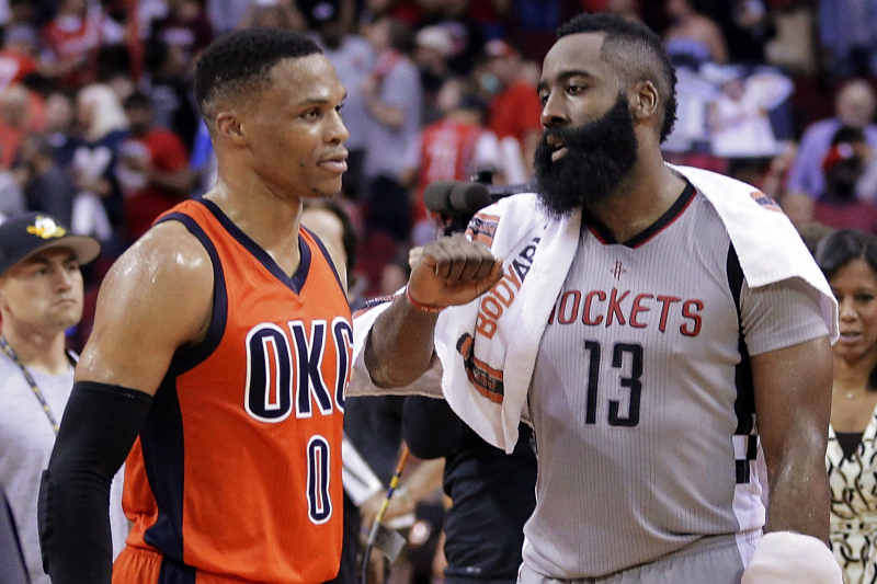Russell Westbrook Trade Rumors: Rockets Pinpointed for James Harden Reunion