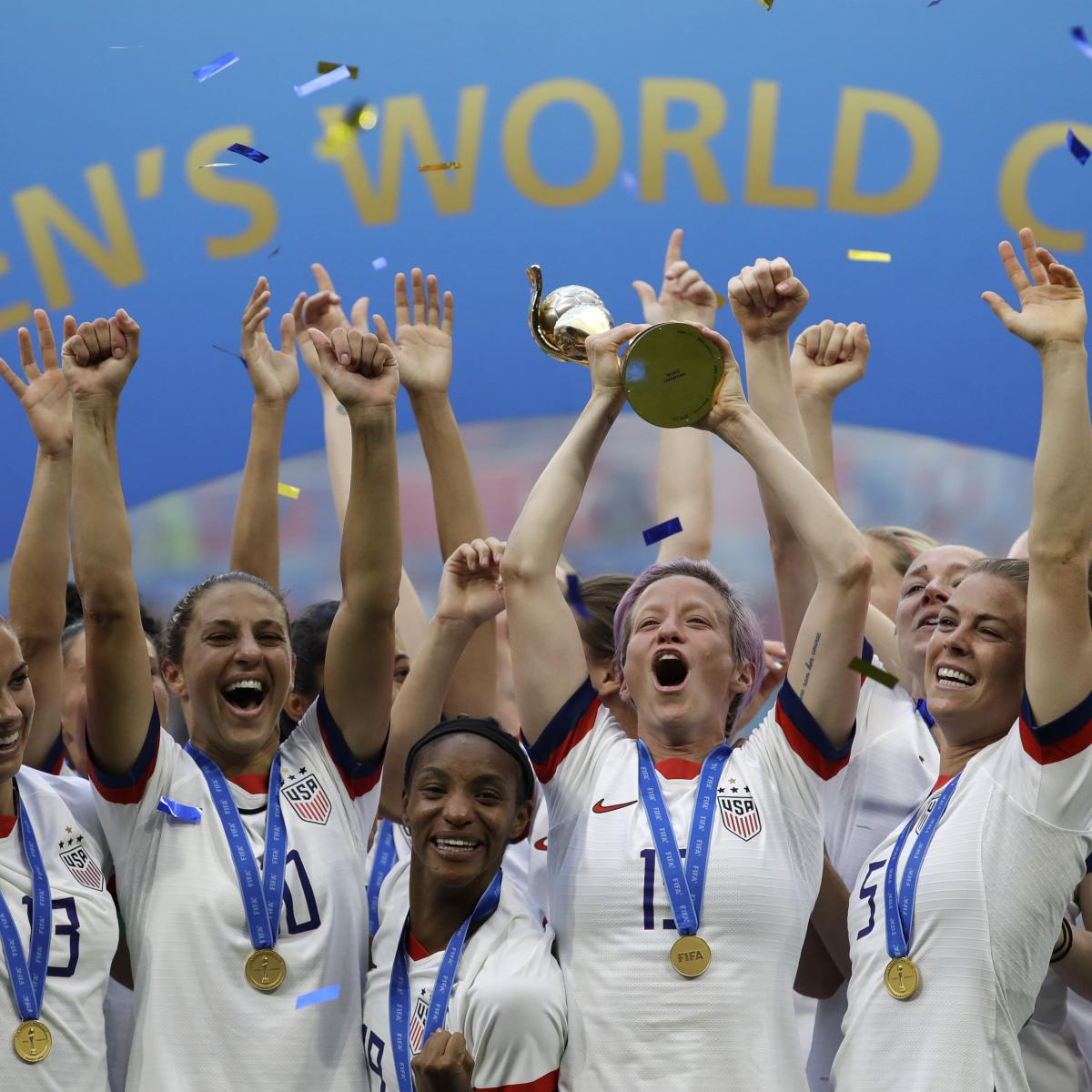 Women's World Cup 2019 Trophy: USA Celebration Highlights ...