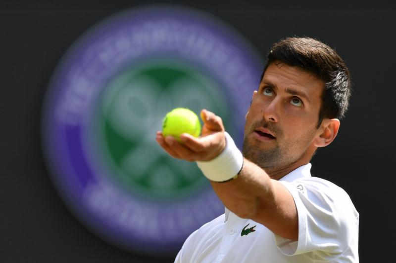 Novak Djokovic Defeats Ugo Humbert at Wimbledon 2019
