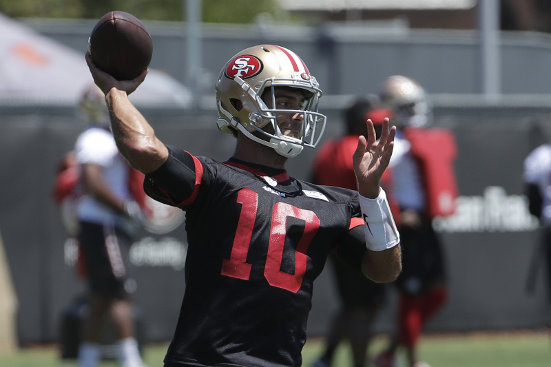 49ers' Jimmy Garoppolo Expected to Be Ready for Training Camp After Knee Injury