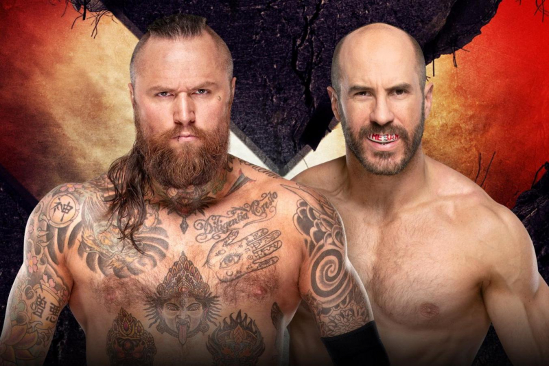 Aleister Black Beats Cesaro with Black Mass Finisher at WWE Extreme Rules 2019