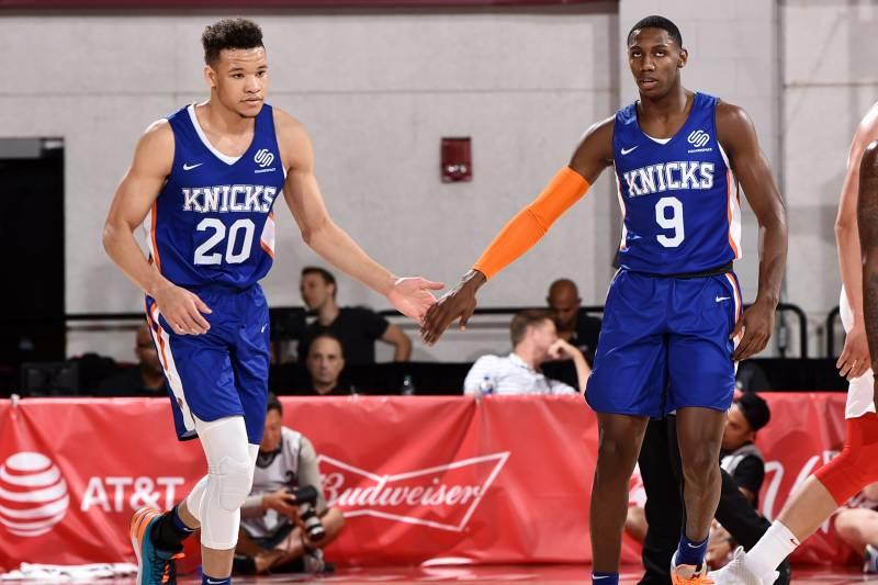 best sneakers cf5ea 91783 RJ Barrett Double-Double Leads Knicks to Summer League Win ...