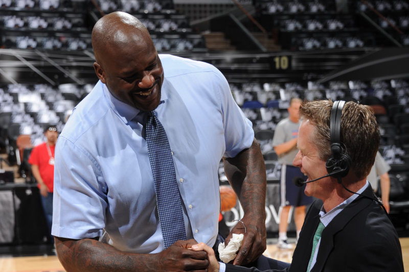 Steve Kerr Shares Clip of Shaq Vowing to Kiss Feet for Coaching Accomplishment
