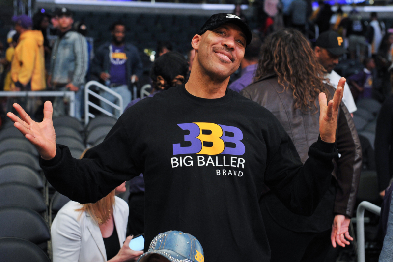 Big Baller Brand Merchandise Selling for Huge Discount at LA Volleyball Game