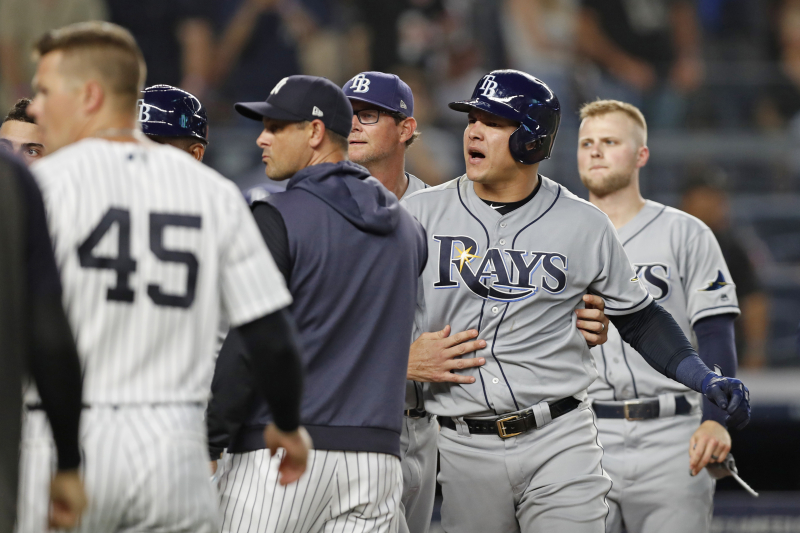 Yankees, Rays Benches Clear After CC Sabathia, Avisail Garcia Exchange Words