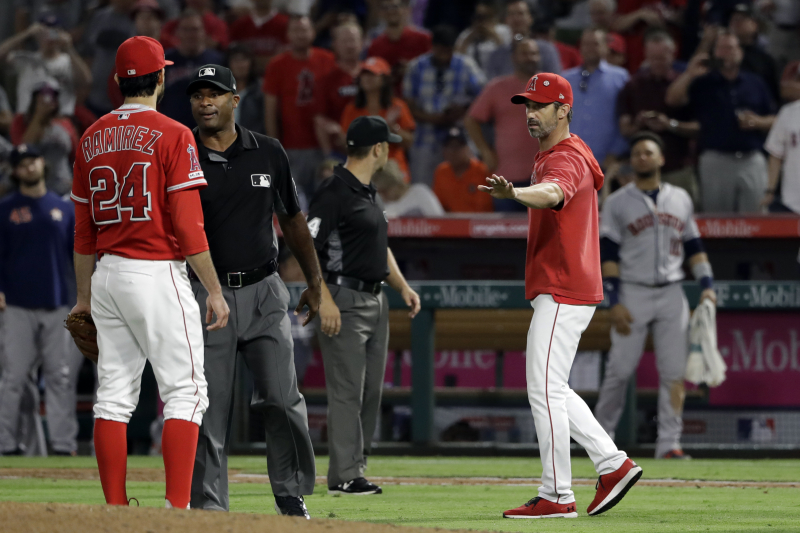 Angels' Noe Ramirez Suspended 3 Games for Throwing at Jake Marisnick's Head