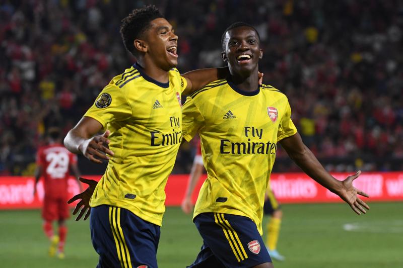 Eddie Nketiah's Late Goal Gives Arsenal 2019 ICC Win vs. Bayern Munich