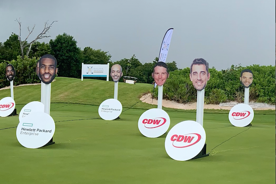 Team NBA and Team NFL Face off in the HPE/CDW Tech Fore! Challenge