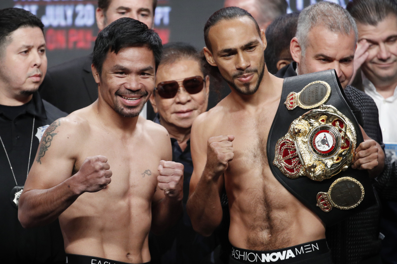 Pacquiao vs. Thurman: Tale of Tape, Fight Records and More for Both Boxers
