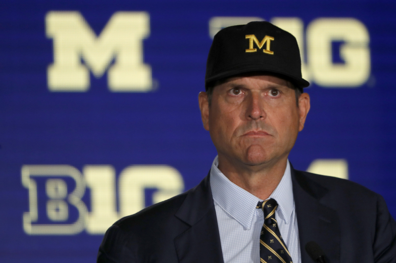 Michigan's Jim Harbaugh Questions Players Citing Mental Health for Transfer