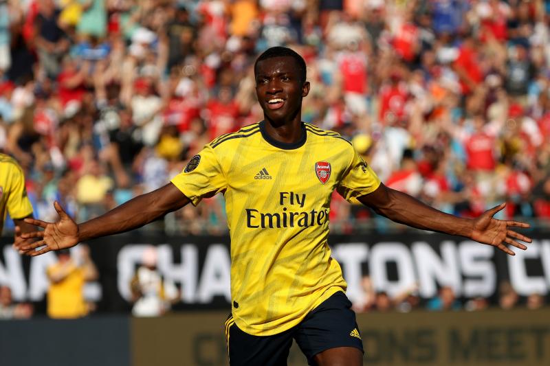 Eddie Nketiah's Brace Leads Arsenal Past Fiorentina in 2019 ICC Friendly