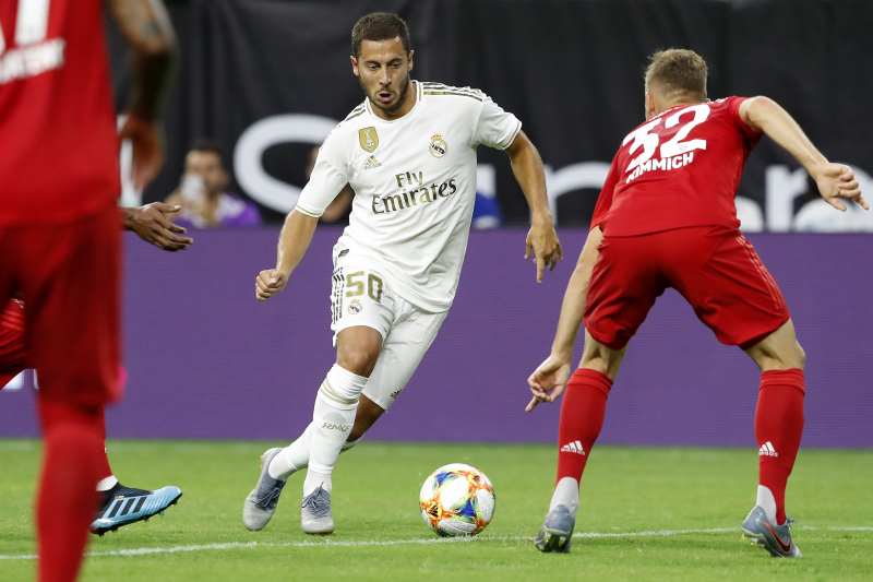 Eden Hazard, Real Madrid Fall to Bayern Munich 3-1 in 2019 ICC Friendly