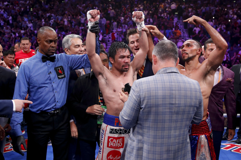 Pacquiao vs. Thurman: Scorecard Results, Complete Punch Stats and Breakdown