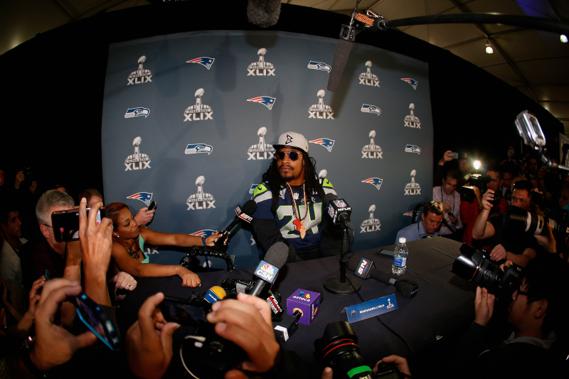 Watch Highlights of 'Lynch: A History' on Marshawn Lynch's Media Silence Protest