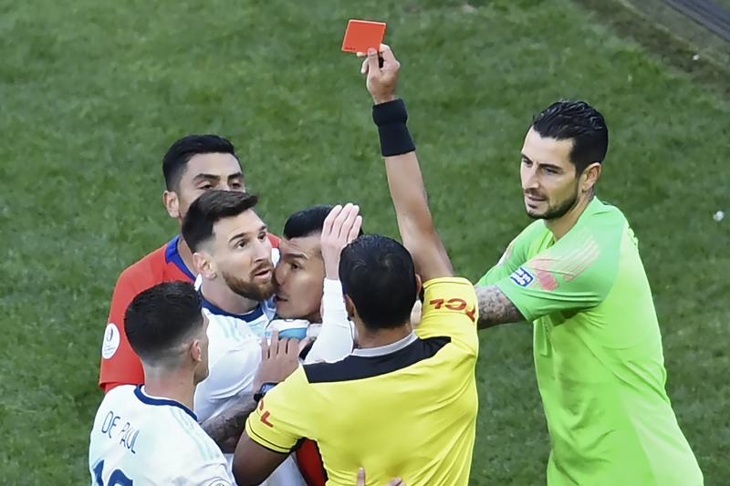 Lionel Messi Fined $1.5K for Red Card vs. Chile in Copa America 3rd-Place Match