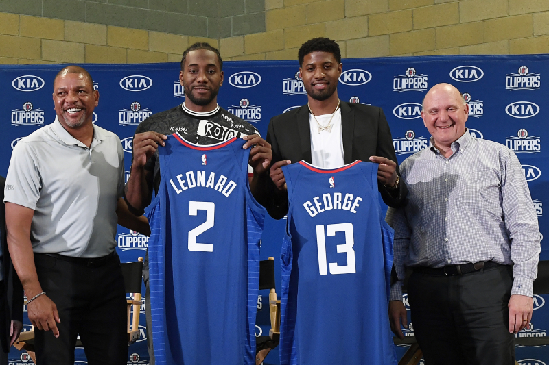 Clippers' Lawrence Frank: Kawhi Leonard Circled Paul George as Top Trade Target