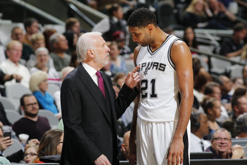 Gregg Popovich Jokingly Rips Tim Duncan: He 'Doesn't Know a Lick About Coaching'