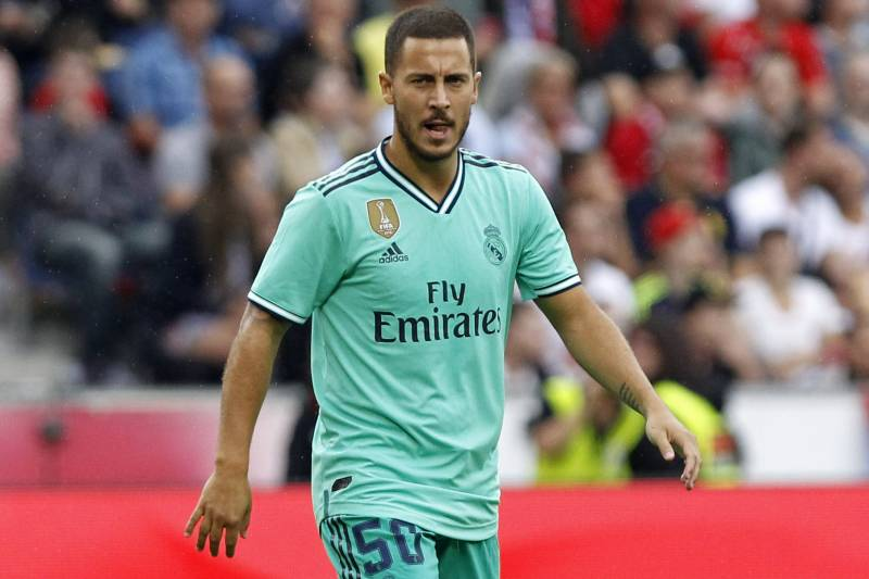 hot sale online 5fe55 60922 Eden Hazard Says He Is in 'Seventh Heaven' at Real Madrid ...