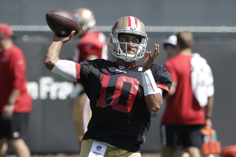 Kyle Shanahan Responds After Jimmy Garoppolo Throws 5 Straight INTs in Practice