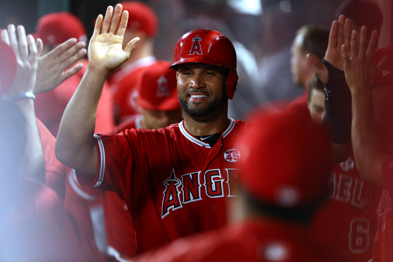 Angels' Albert Pujols Sets Record for Career Hits by Foreign-Born Player