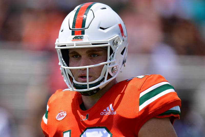 Miami QB Tate Martell Reportedly Experimenting with Move to WR