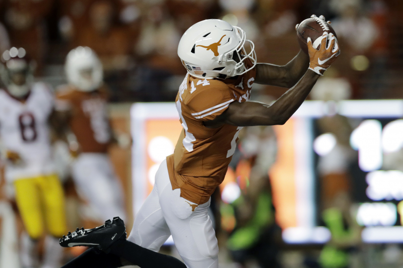 Texas WR Joshua Moore Charged with Unlawful Possession of Loaded Gun