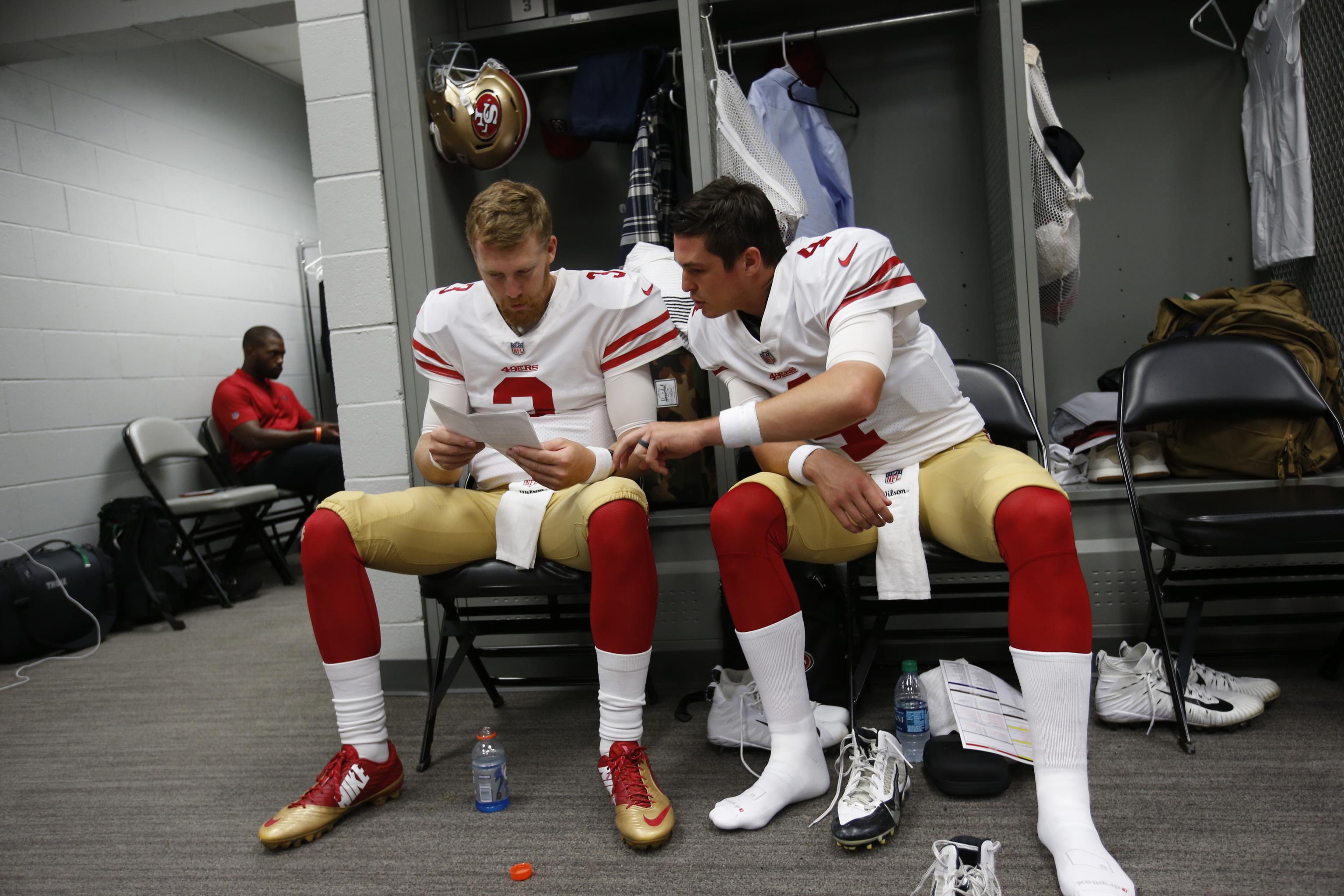 pretty nice 64d38 664f4 49ers GM John Lynch: No Trade Discussions for QBs Nick ...