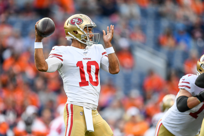 49ers Beat Joe Flacco, Broncos Despite Jimmy Garoppolo Throwing for 0 Yards