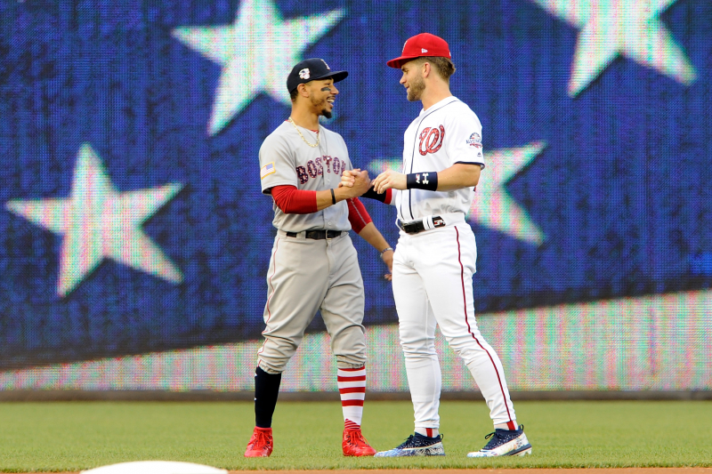 Bryce Harper on Mookie Betts' Next Contract: 'I Hope' He Passes My $330M Deal
