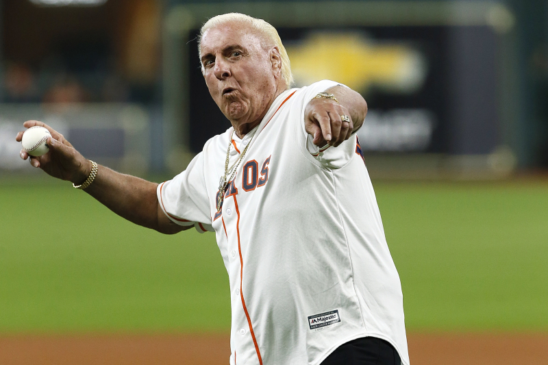 Video: WWE Hall of Famer Ric Flair Throws Out 1st Pitch at Astros Game