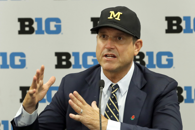 Michigan HC Jim Harbaugh: 'It's Hard to Beat the Cheaters' in SEC at Recruiting