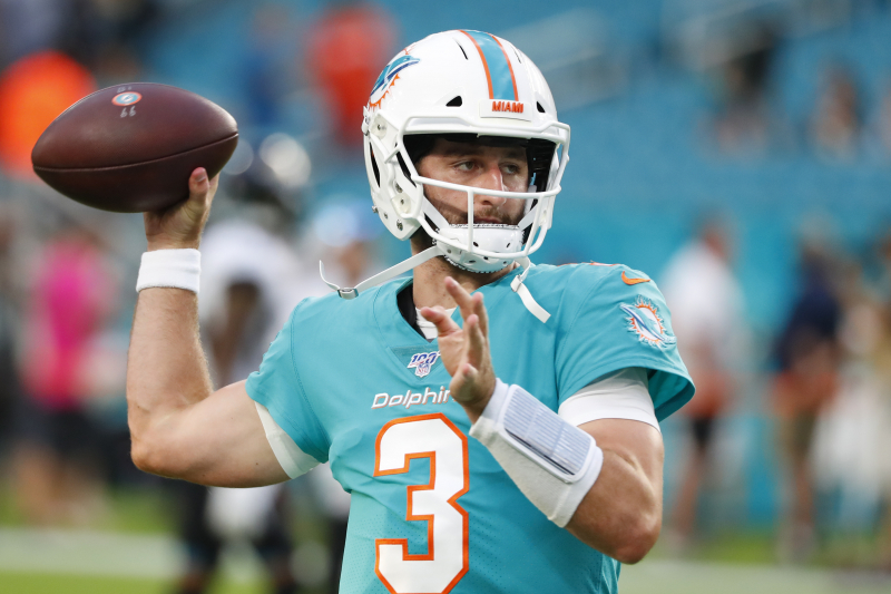 Josh Rosen Throws for 59 Yards in 2nd Half as Dolphins Beat Jaguars in Preseason