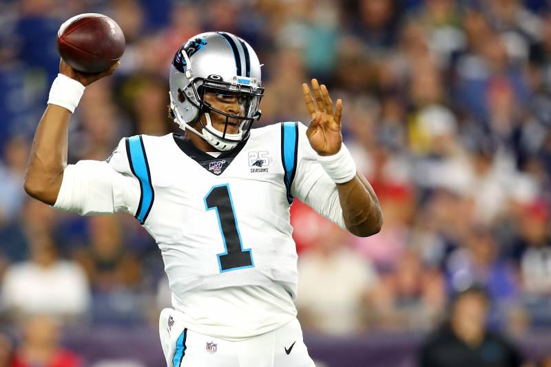 new product afcc2 49882 Panthers' Cam Newton Out vs. Cardinals with Foot Injury ...