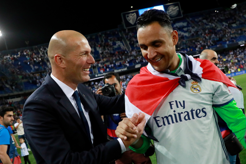 Zinedine Zidane 'Can't Contemplate' Keylor Navas Leaving Real Madrid This Summer