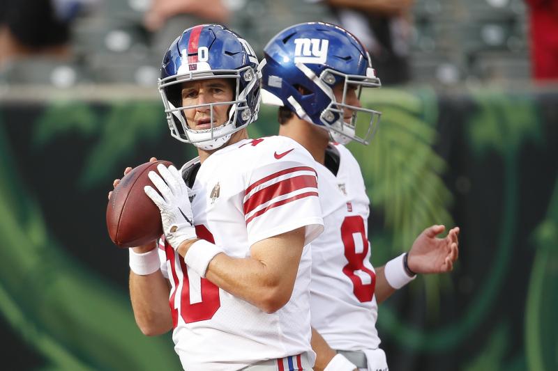 Eli Manning Named Giants Starting QB over Daniel Jones for Week 1 vs. Cowboys