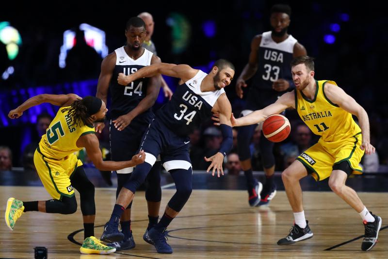 Patty Mills Leads Australia to Comeback Win vs USA in 2019 FIBA World Cup Tuneup