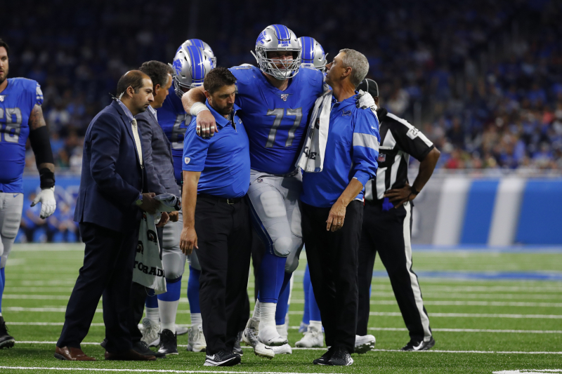 Lions Rumors: Frank Ragnow Ankle Injury Diagnosed as 'Minor' Sprain