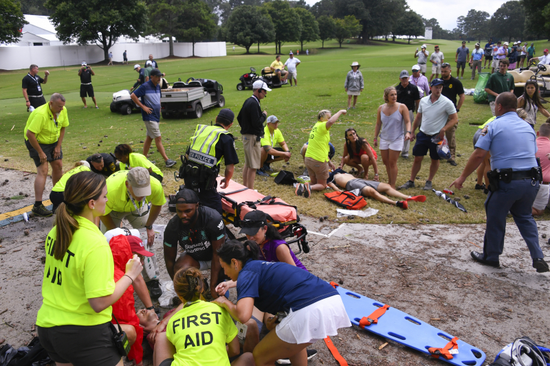 Multiple Fans Injured After Lightning Strike During TOUR Championship