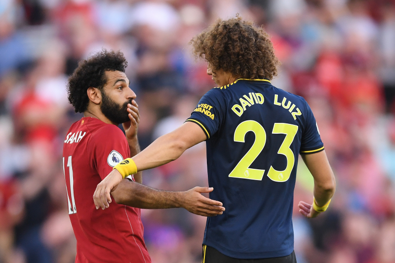 David Luiz Reveals Convo with Mohamed Salah During Arsenal's Loss to Liverpool